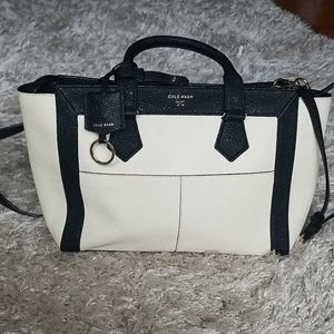 Cole Haan  Black & White Leather Crossbody